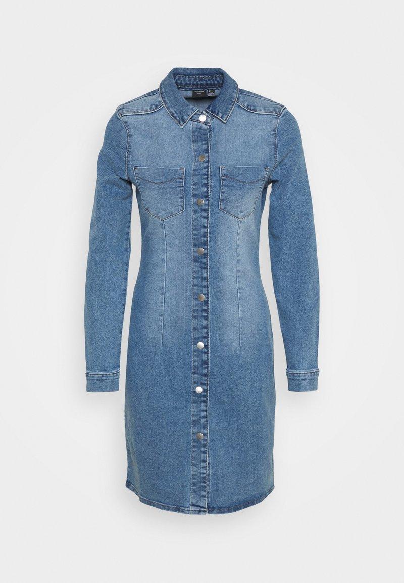 Vero Moda - VMGRACE SLIM BUTTON - Dongerikjole - light blue denim