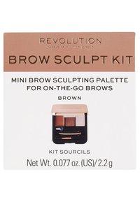 Make up Revolution - BROW SCULPT KIT - Make-upset - brown - 2