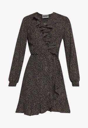 IMOGENE WRAP DRESS - Day dress - black