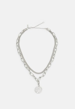 CROC DISC MULTIROW - Necklace - silver-coloured