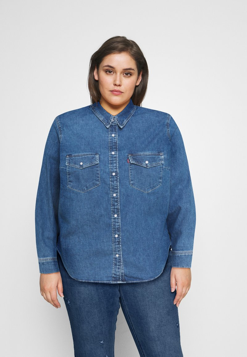 Levi's® Plus - ESSENTIAL WESTERN - Button-down blouse - going steady