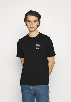 RELAXED FIT TEE UNISEX - Print T-shirt - caviar