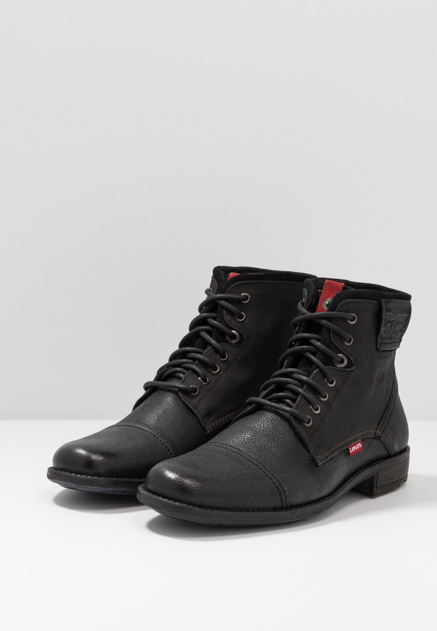 Levis® FOWLER - Schnürstiefelette - regular black/schwarz - Herrenschuhe i841O