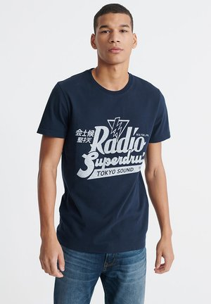 MUSIC - T-shirt con stampa - rich navy