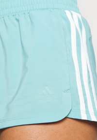 adidas Performance - PACER - Sports shorts - mint ton/white - 4