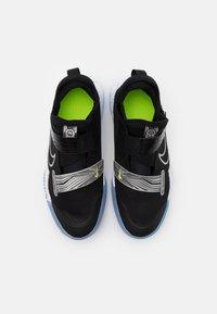 Nike Performance - ZOOM FLIGHT UNISEX - Basketball shoes - black/metallic silver/photon dust/white - 3
