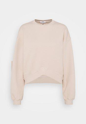 CHEVRON - Sweatshirt - cashew milk/beige