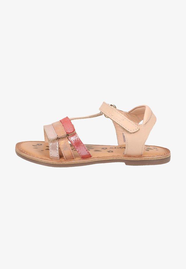 Sandales - rose corail metallisé