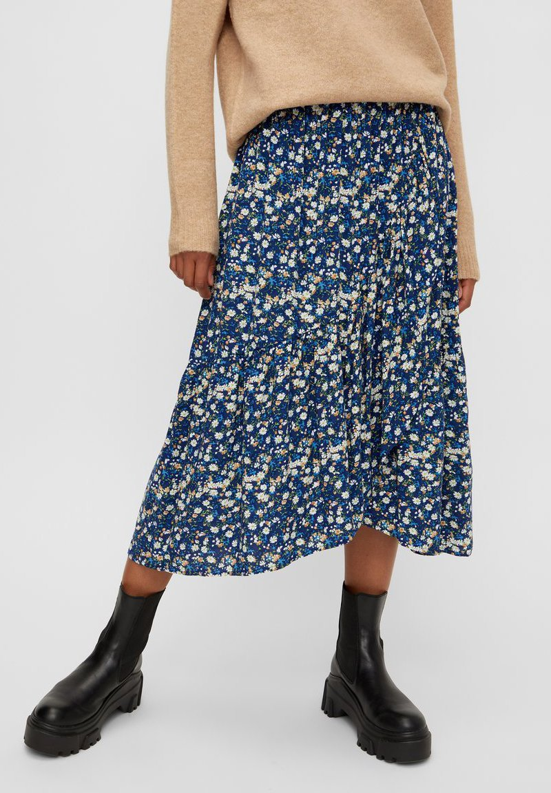 Pieces - A-line skirt - maritime blue