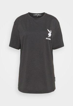 PLAYBOY LOGO TEE - Print T-shirt - black