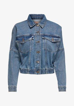 JEANSJACKE CROPPED - Denim jacket - medium blue denim