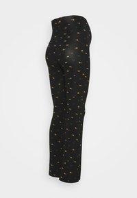 LOVE2WAIT - PANTS FLARED FLOWERS - Leggings - Trousers - black - 1