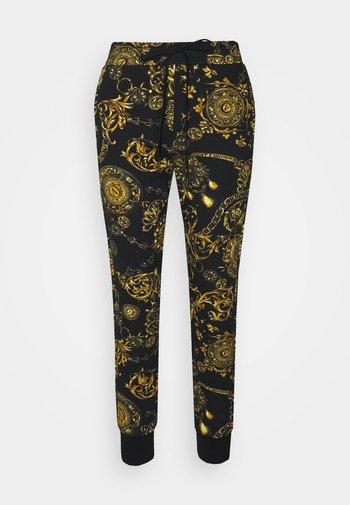PANTS - Tracksuit bottoms - black/gold
