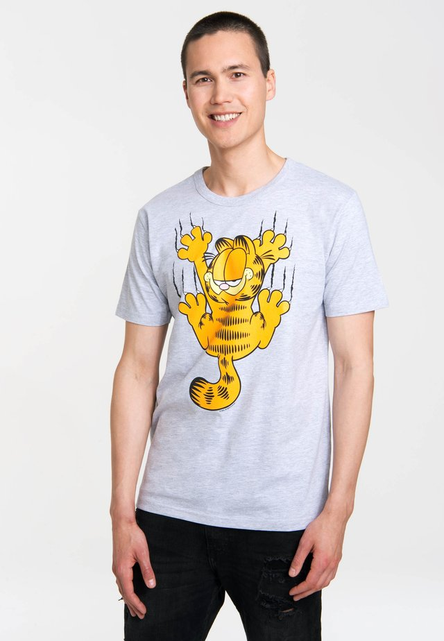 GARFIELD SCRATCHES - Print T-shirt - grau-meliert