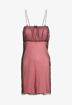 GATHERED BUST DRESS - Tubino - pink
