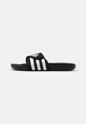 ADISSAGE UNISEX - Pool slides - core black/footwear white