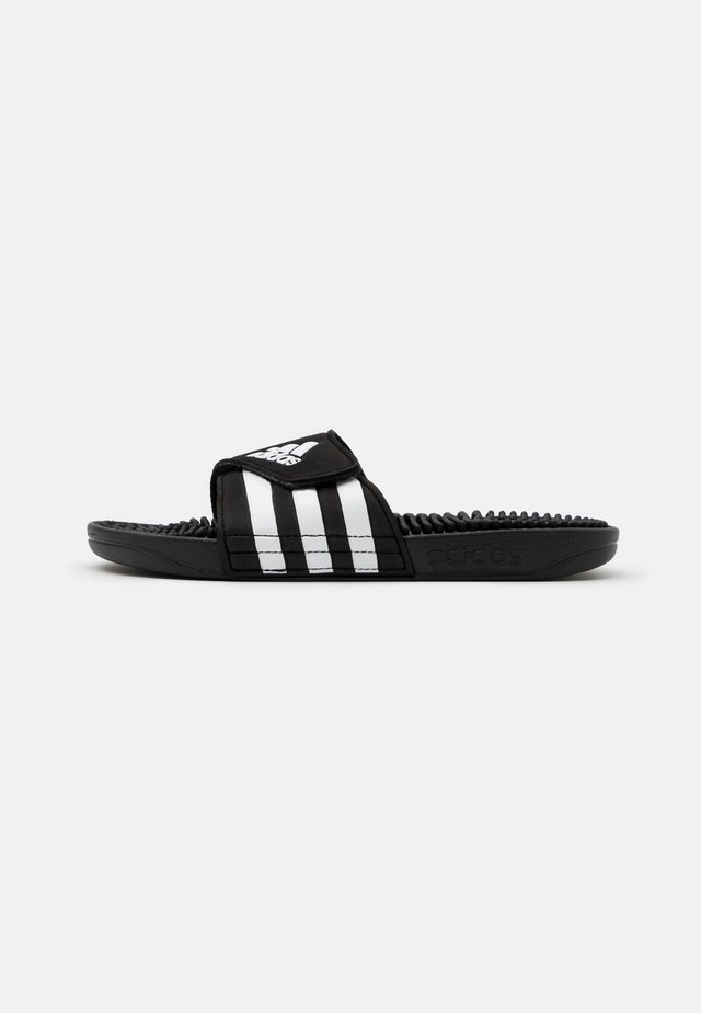 ADISSAGE UNISEX - Sandales de bain - core black/footwear white