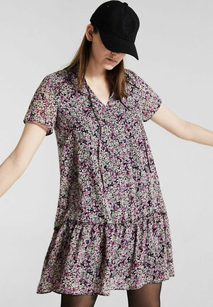 WITH FLORAL PATTERN - Day dress - lavande