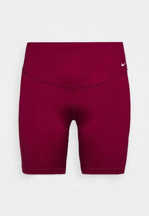 ONE SHORT PLUS - Leggings - dark beetroot/white