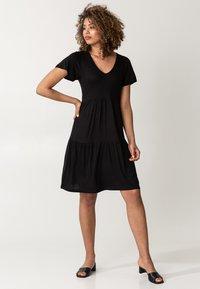 Indiska - HILMA - Jersey dress - black - 0