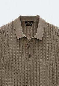 Massimo Dutti - Polo shirt - brown - 4