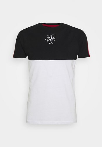 T-shirt print - jet black/optic white