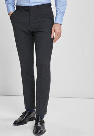 STRETCH TONIC SUIT: TROUSERS-SLIM FIT - Oblekové kalhoty - grey