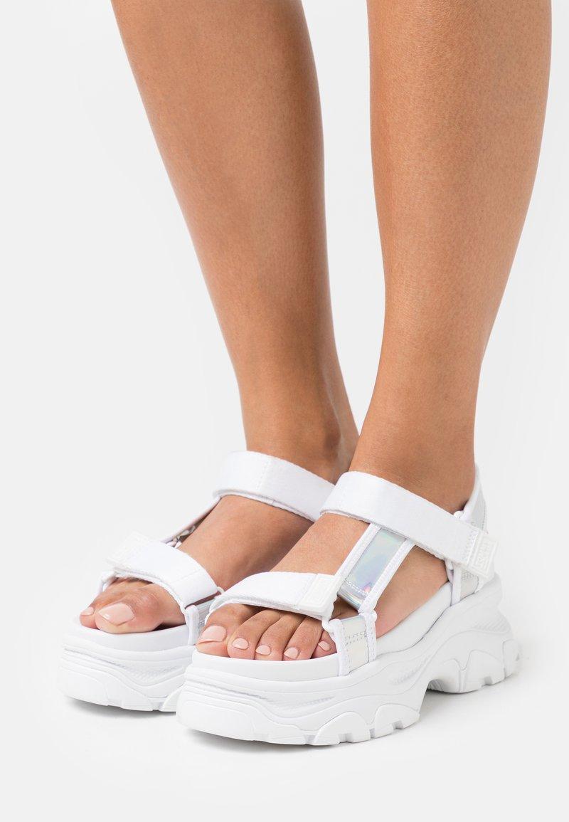 Tommy Jeans - IRIDESCENT HYBRID  - Platform sandals - white