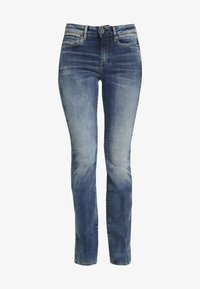 G-Star - 3301 HIGH FLARE - Flared Jeans - medium aged - 4