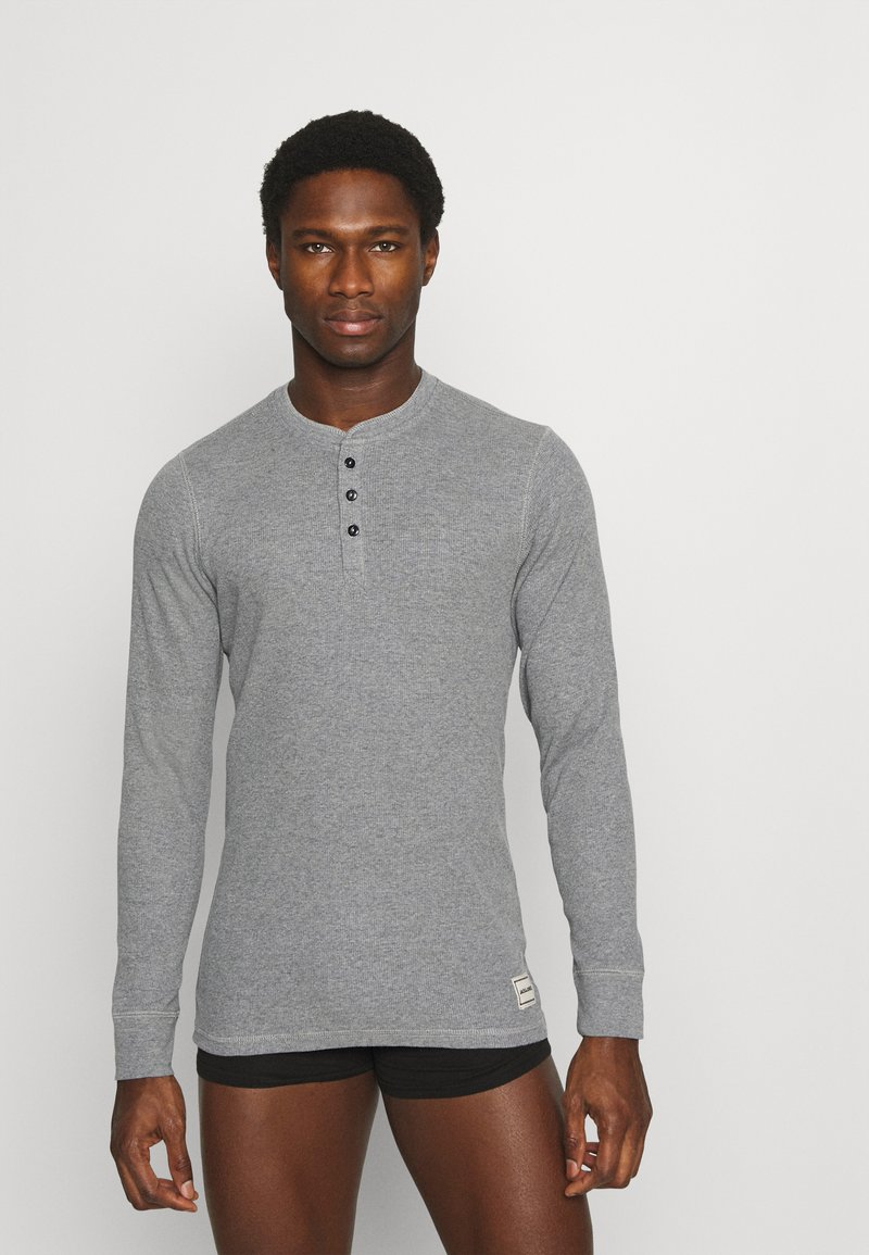 Jack & Jones - JACHENRIK HENLEY - Pyžamový top - grey melange