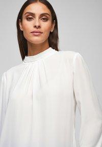 s.Oliver BLACK LABEL - MIT CHIFFON-BLENDE - Long sleeved top - cream - 3