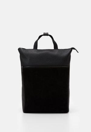 UNISEX LEATHER - Tagesrucksack - black