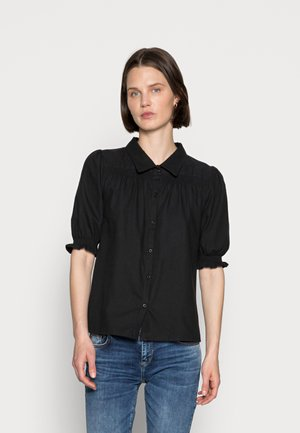 AGNES - Button-down blouse - black
