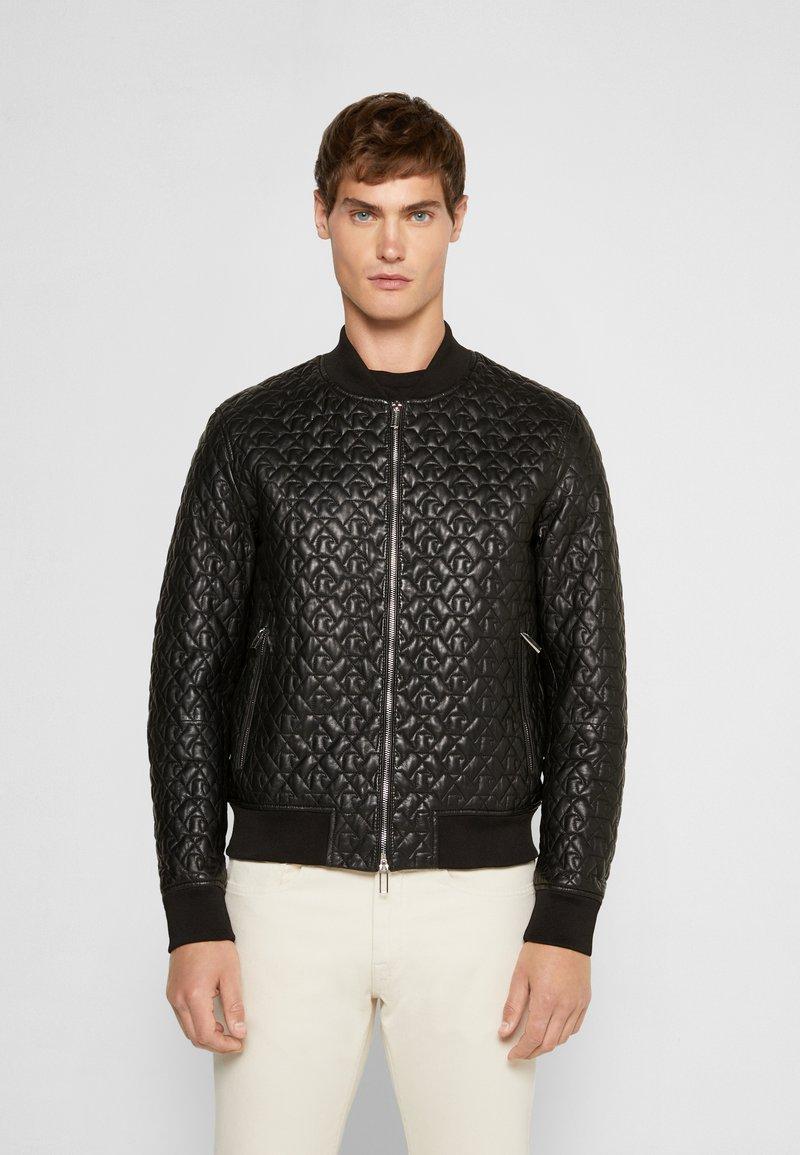 Emporio Armani - BLOUSON - Leather jacket - black