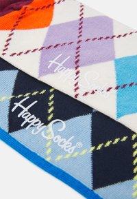 Happy Socks - HALF ARGYLE AND STRIPE SOCK UNISEX 2 PACK - Socks - multi - 2