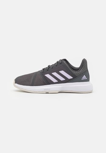 COURTJAM BOUNCE - Allcourt tennissko - grey six/purple tint/footwear white