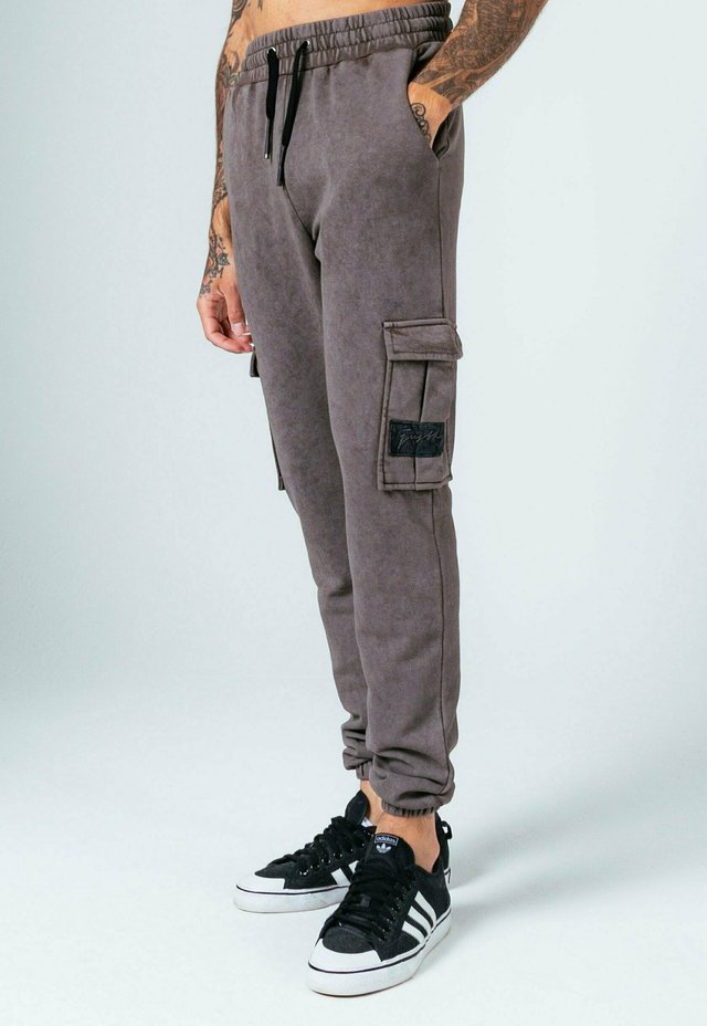 VINTAGE WASH - Pantalon de survêtement - charcoal