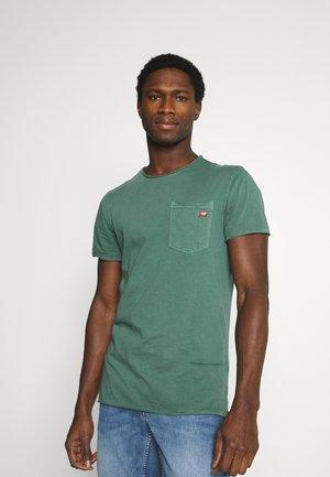 WASHED CREW NECK - T-shirt basique - mallard green