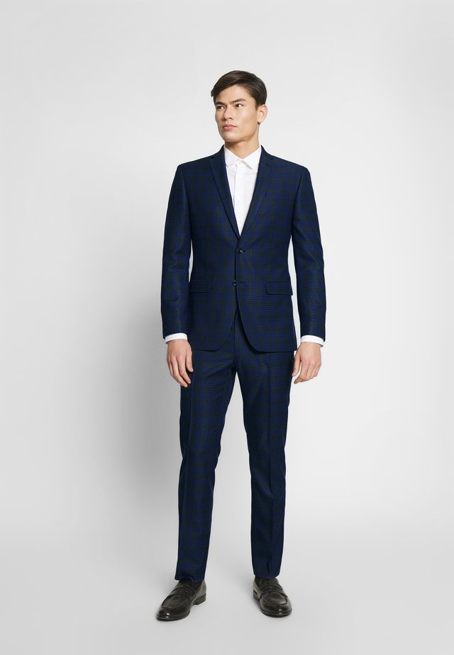 CHECK SUIT - Suit - blue