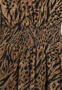 Forever New - ALISON SHIRRED NECK SKATER DRESS - Day dress - brown - 5