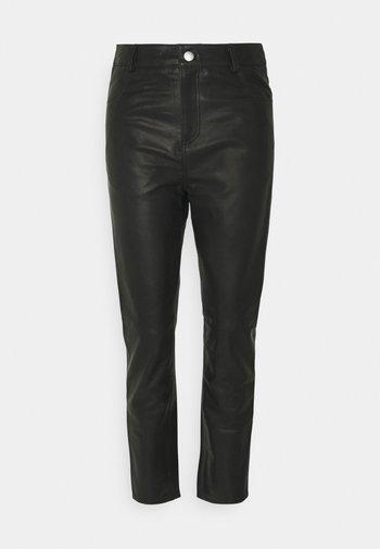 PHOENIX PANTS - Leather skirt - black