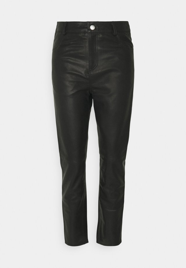 PHOENIX PANTS - Leather skirt - black