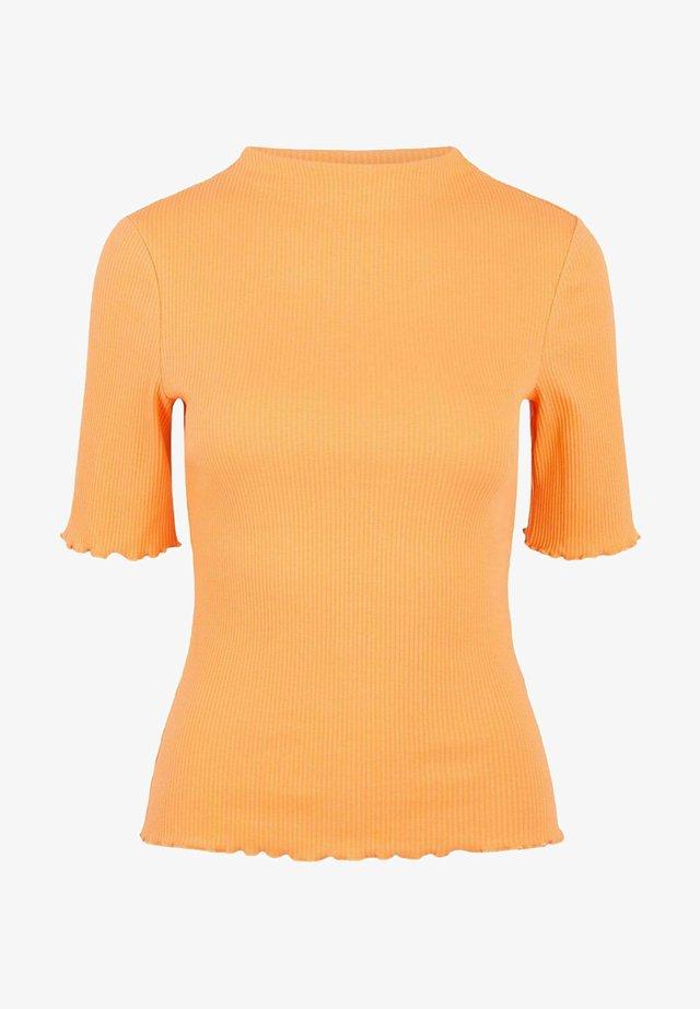 PCNUKISA MOCK NECK - T-shirt basic - nectarine