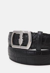 Trussardi - BELT PLACCA LEVRIERO COCCO - Belt - black - 2