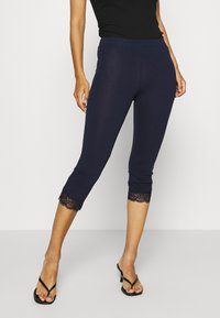 Anna Field - 2 PACK Capri Leggings with Lace - Leggings - Trousers - dark blue/black - 3