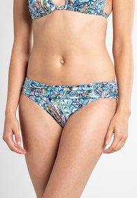 Lauren Ralph Lauren - MYSTIC PAISLEY SHIRRED BAND HIPSTER - Bikini bottoms - blue - 0