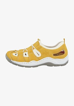 Casual lace-ups - yellow/pure white