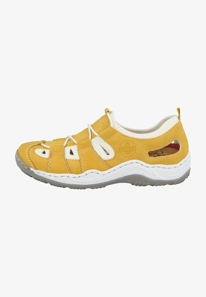 Rieker - Casual lace-ups - yellow/pure white
