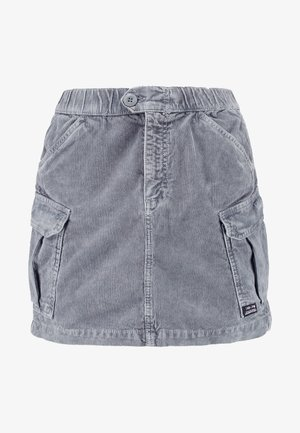 UTLITY SKIRT - Mini skirt - cool grey