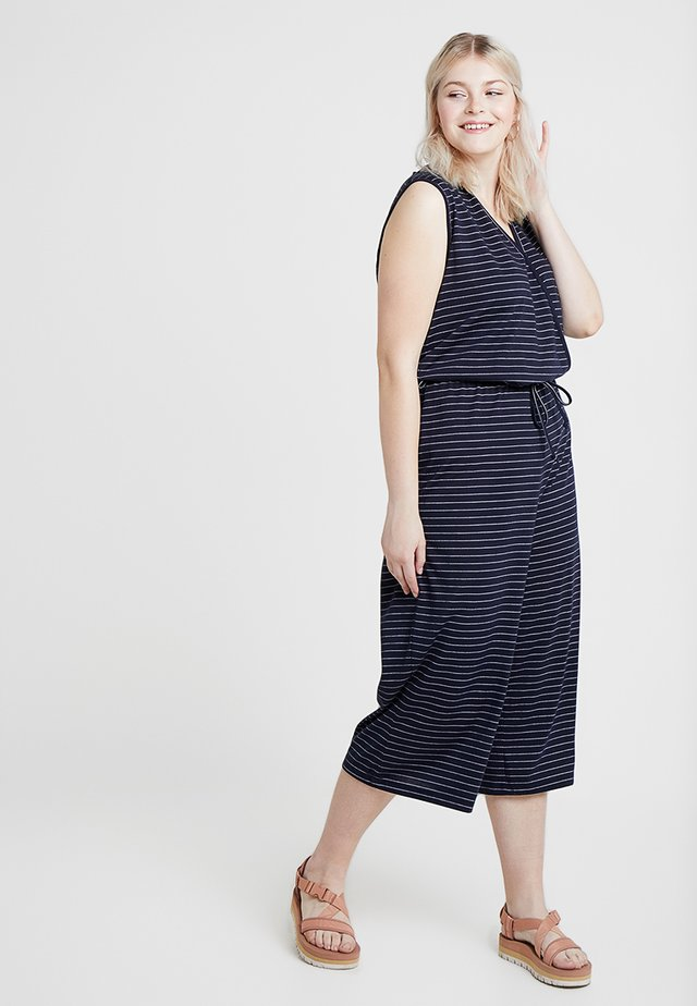 WRAP WITH SELF TIE - Jumpsuit - dark navy